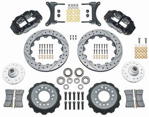 "1979-88 El Camino Brake Kit, Superlite 6-Piston Front (Big Brake) 13"" Drilled/Slotted Rotors"