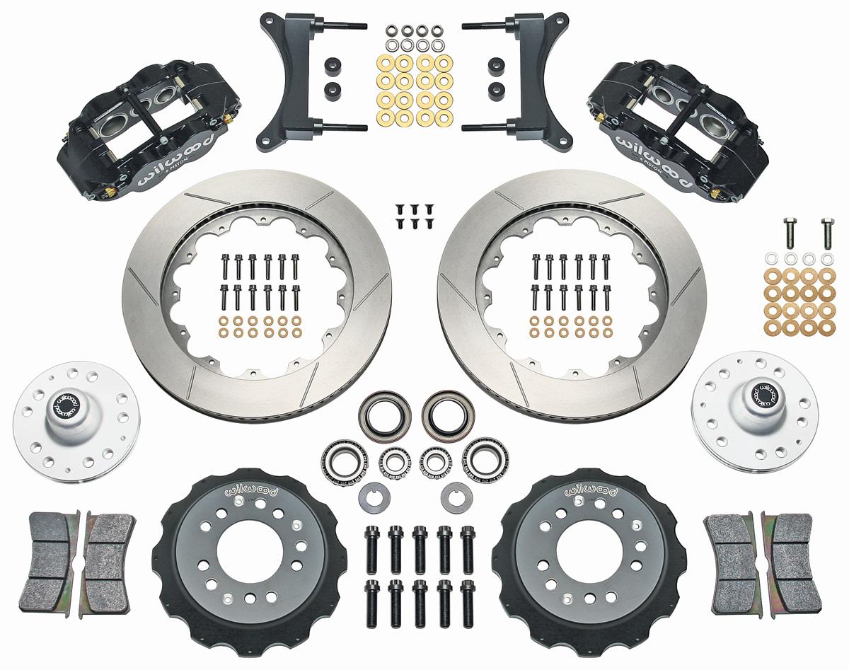 "Photo of Grand National Brake Kit, Superlite 6-Piston Front (Big Brake) 14"" slotted rotors"
