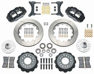 "1979-88 Malibu Brake Kit, Superlite 6-Piston Front (Big Brake) 14"" Slotted Rotors"