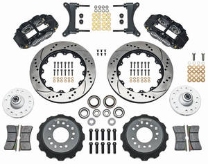 "1979-88 El Camino Brake Kit, Superlite 6-Piston Front (Big Brake) 14"" Drilled/Slotted Rotors"