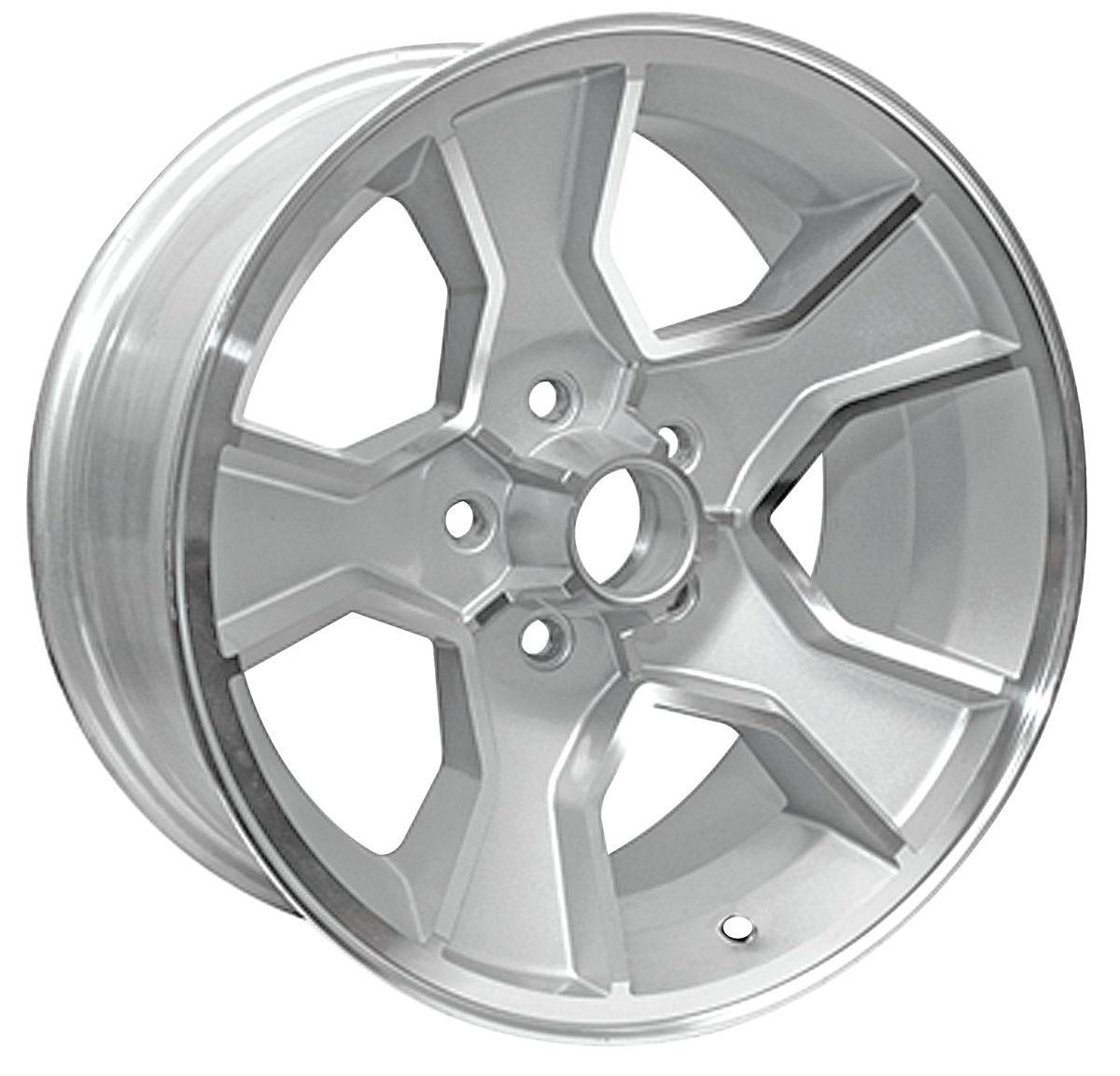 "Photo of Wheel, N90 (Monte Carlo) silver, 17"" x 8"" (B.S. 4.25"")"