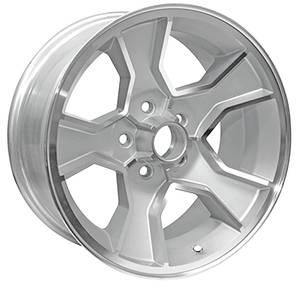 """1986-88 Wheel, N90 (Monte Carlo) Silver, 17"""" X 8"""" (B.S. 4.25""""), by U.S. Wheel"""