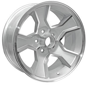 "1986-88 Wheel, N90 (Monte Carlo) Silver, 17"" X 8"" (B.S. 4.25"")"