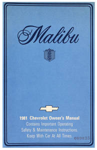 Authentic Owner's Manuals Malibu