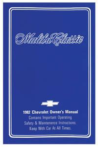 1982-1982 Malibu Authentic Owner's Manuals Malibu Classic