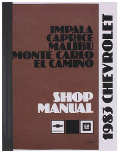 1983-1983 Monte Carlo Chassis Service Manual