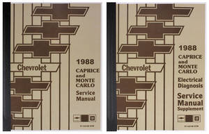 1988 Monte Carlo Chassis Service Manual 2 Books: Mechanical & Electrical