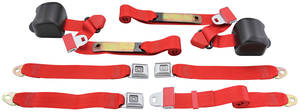 1978-88 Seat Belts, Original Style Retractable Malibu and Monte Carlo Bench
