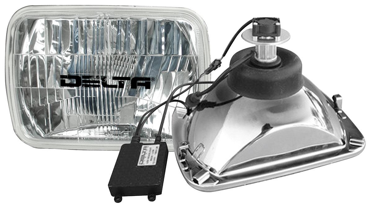 "Photo of Headlights, LED 8"", high/low"