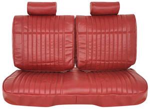 Seat Upholstery, 1978-82 Split-Back Bench El Camino Vinyl, w/o Armrest, w/Headrests
