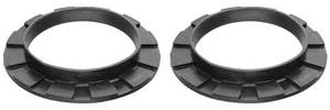 Upper Coil Spring Insulator Pads front, rubber