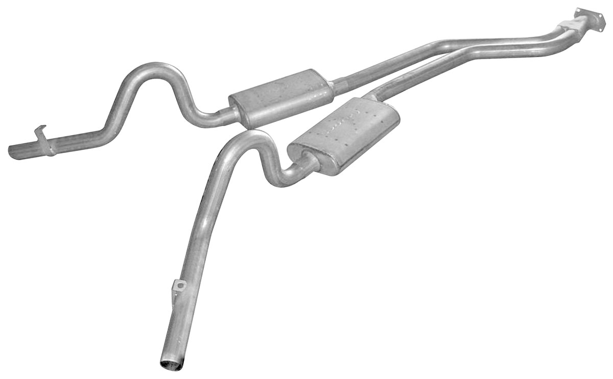 "Photo of Exhaust Kits, Converter-Back, G-Body Race Pro, 2-1/2"", side exit"