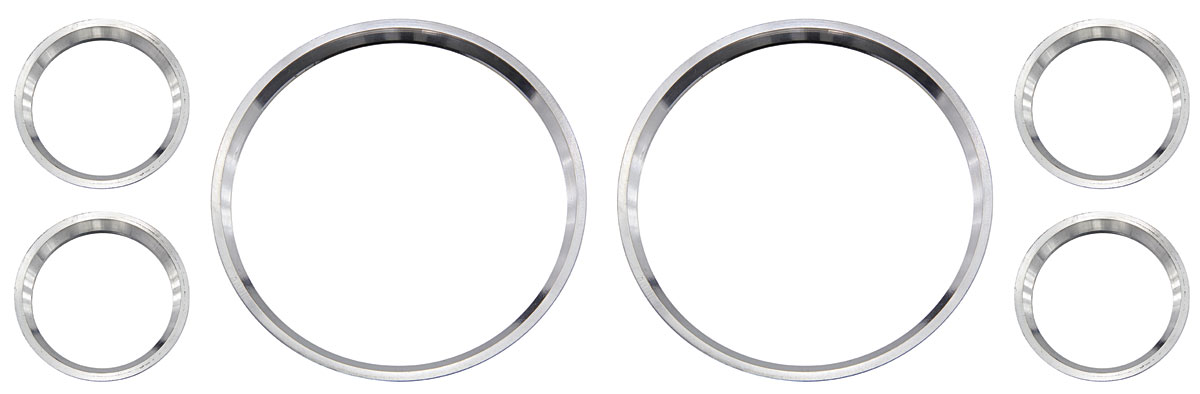 Photo of El Camino Gauge Bezels, Polished Aluminum