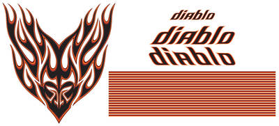 "El Camino Body Decal Kit, 1978-83 GMC ""Diablo"", by Phoenix Graphix"