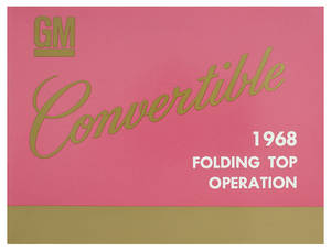 1968 Bonneville Convertible Top Operation Manuals