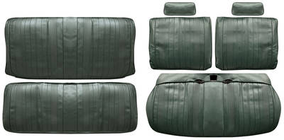 Chevelle Seat Upholstery, 1970 Leather Split Bench w/Coupe Rear