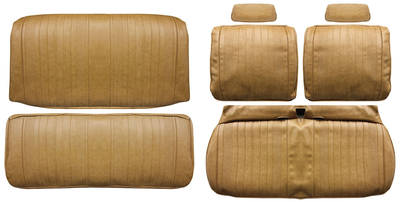 Chevelle Seat Upholstery, 1970 Leather Split Bench w/Convertible Rear