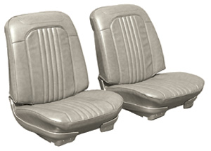Chevelle Seat Upholstery, 1971-72 Leather Buckets w/Coupe Rear, by Distinctive Industries
