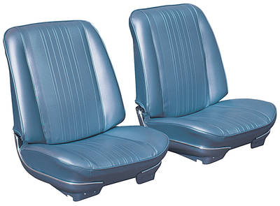 El Camino Seat Upholstery, 1970 Leather Buckets