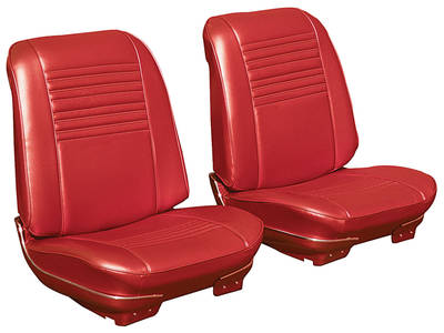 Chevelle Seat Upholstery, 1967 Leather Buckets