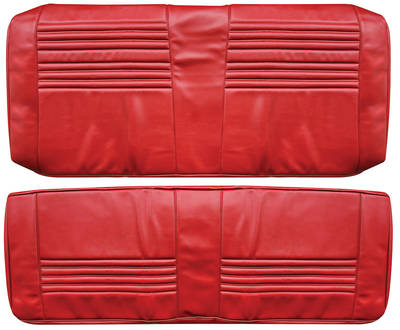 Chevelle Seat Upholstery, 1967 Leather Rear Seat Coupe