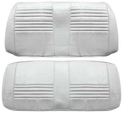 Chevelle Seat Upholstery, 1967 Leather Rear Seat Convertible