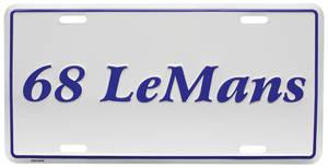 "1968 License Plate, ""LeMans"" Embossed"