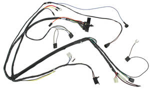 1973 LeMans Engine Harness 6-Cylinder w/AC, Unitized Dist., Functional Scoop, by M&H