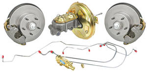 1968-1972 El Camino Brake Kits, Front Stock Spindle Disc Standard Booster, by CPP