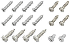 1977 Monte Carlo Exterior Screw Set (18-Piece)