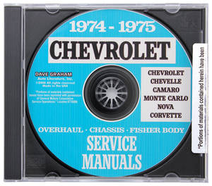 1974-1975 Chevelle CD-ROM Factory Shop Manuals