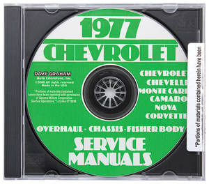 1977 Chevelle CD-ROM Factory Shop Manuals