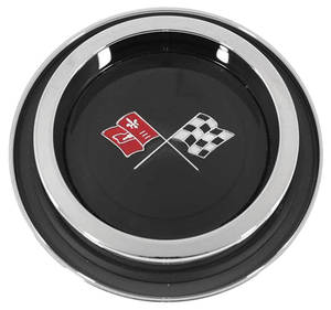 1971-72 Monte Carlo Wheel Cover Emblem, Finned Insert W/Bezel