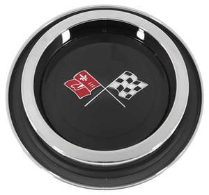 1971-72 Monte Carlo Wheel Cover Emblem, Finned Insert W/Bezel, by TRIM PARTS