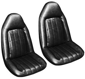 1977-1977 Monte Carlo Seat Upholstery, 1977 Swivel (Front Buckets), by PUI