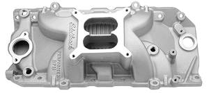 1970-1975 Chevelle Intake Manifold, Performer RPM 2-O Satin Finish Square-Bore, by Edelbrock