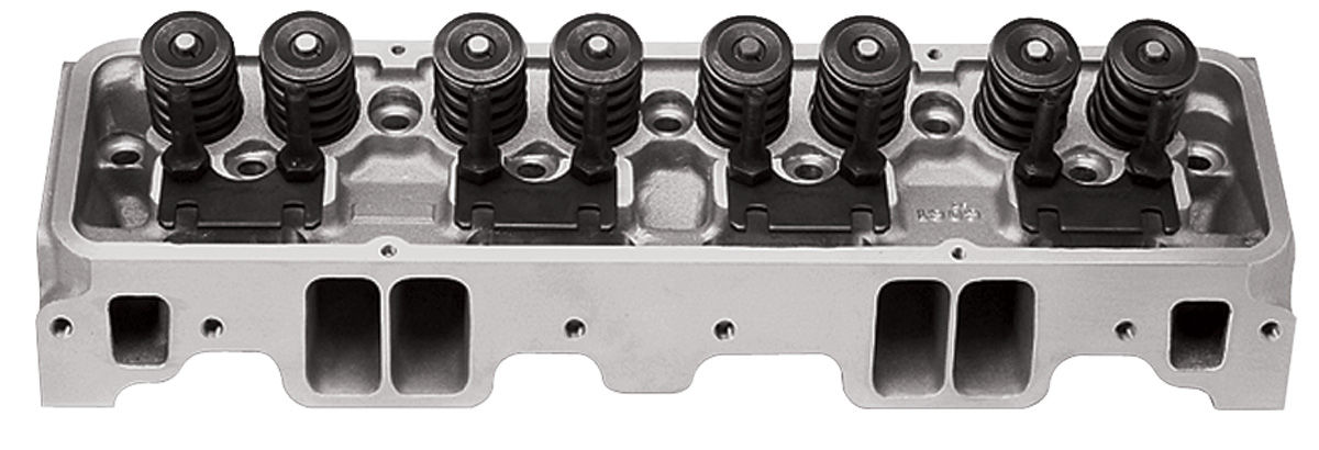 Photo of Cylinder Head, Performer RPM Small-Block angled plugs, 70cc