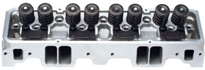 1964-77 Chevelle Cylinder Head, Performer RPM Small-Block Straight Plugs, 64cc