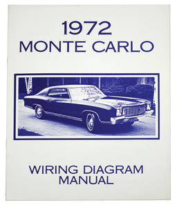 1972-1972 Monte Carlo Monte Carlo Wiring Diagram Manuals