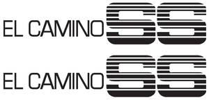 1986-1987 El Camino Door Decal For Special El Camino Super Sport Black, by RESTOPARTS