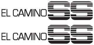 1986-87 Door Decal For Special El Camino Super Sport Black