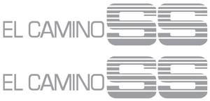 1986-1987 El Camino Door Decal For Special El Camino Super Sport Silver, by RESTOPARTS