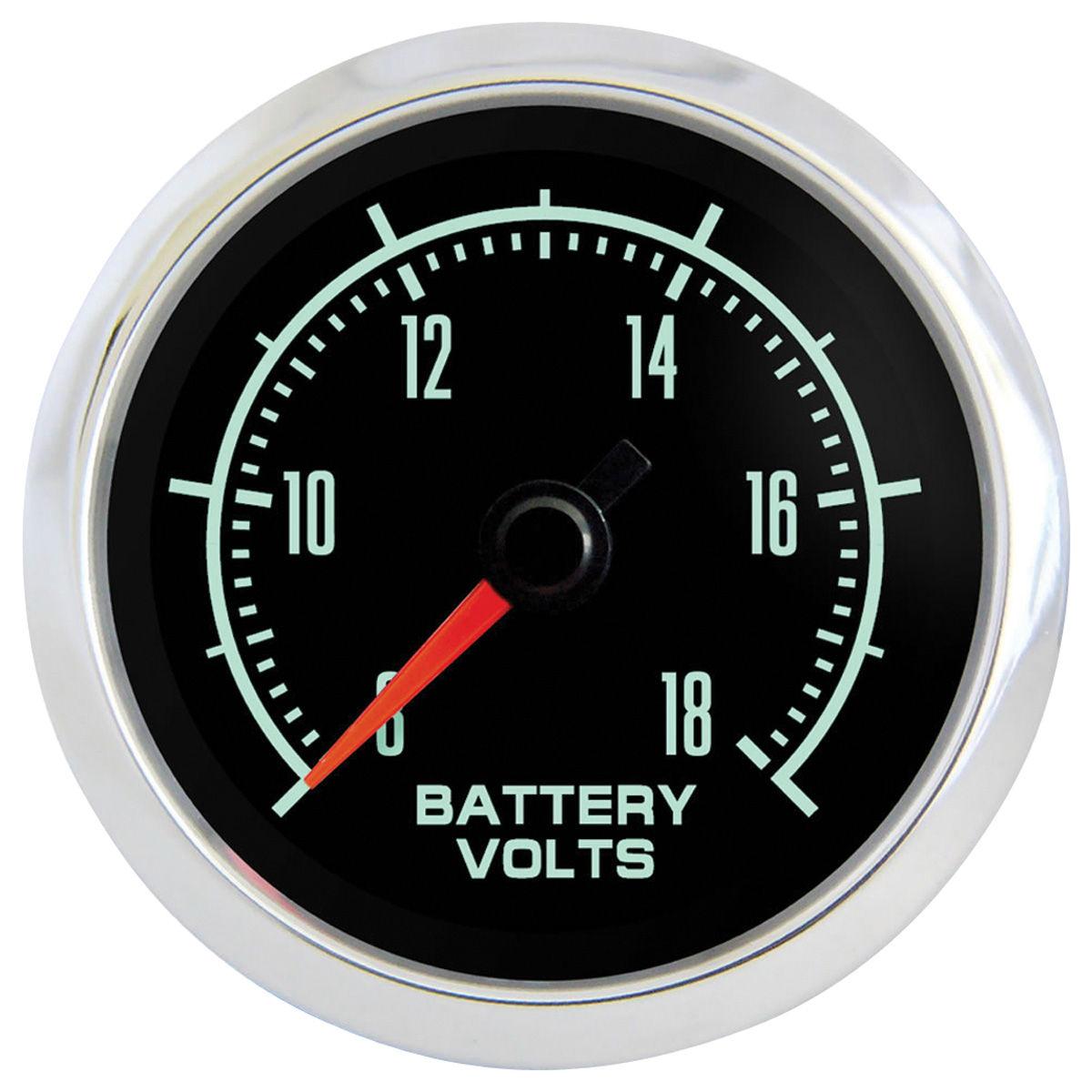 """Photo of Gauge, Retro Muscle 2-1/16"""" volt gauge"""