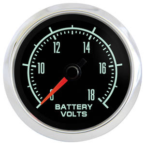 "1964-1977 El Camino Gauge, Retro Muscle 2-1/16"" Voltmeter, by Marshall Instruments"
