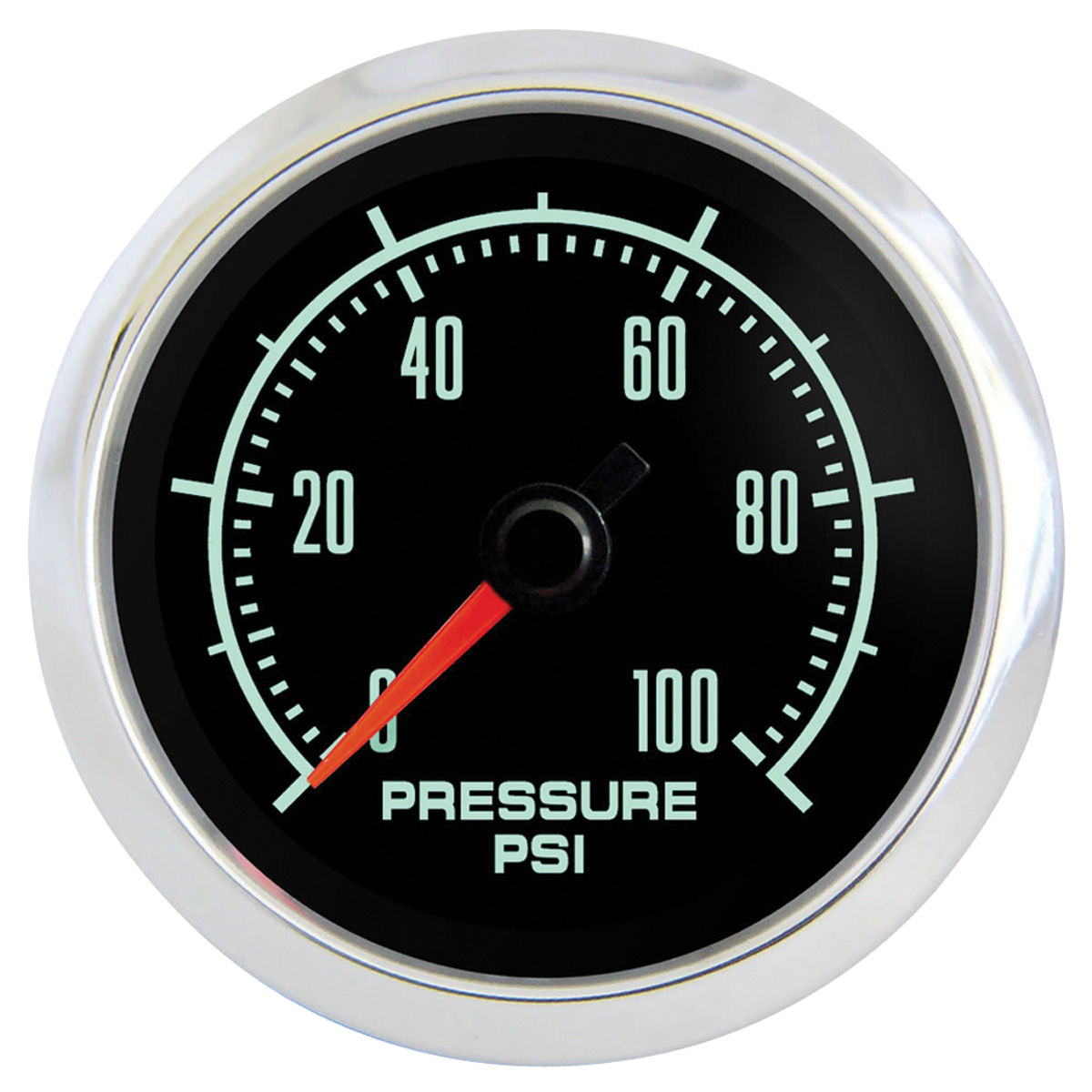 "Photo of Gauge, Retro Muscle 2-1/16"" oil pressure gauge"