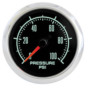 "1964-77 El Camino Gauge, Retro Muscle 2-1/16"" Oil Pressure Gauge"