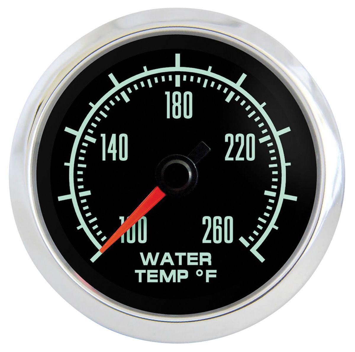 "Photo of GTO Gauge, Retro Muscle 2-1/16"" water temp. gauge"