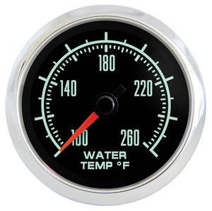 "1961-1977 Cutlass Gauge, Retro Muscle 2-1/16"" Water Temp. Gauge, by Marshall Instruments"