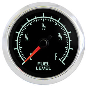 "1961-73 GTO Gauge, Retro Muscle 2-1/16"" Fuel Gauge, by Marshall Instruments"