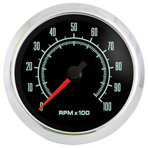 "1961-73 LeMans Gauge, Retro Muscle 3-3/8"" Tachometer (10,000 Rpm)"